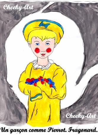Un garçon comme Pierrot. Fragonard.