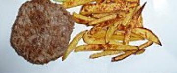 Recette : Steak Haché et frites maison légères (Chrononutrition Midi)