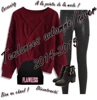 Tendances automne/hiver 2014-2015