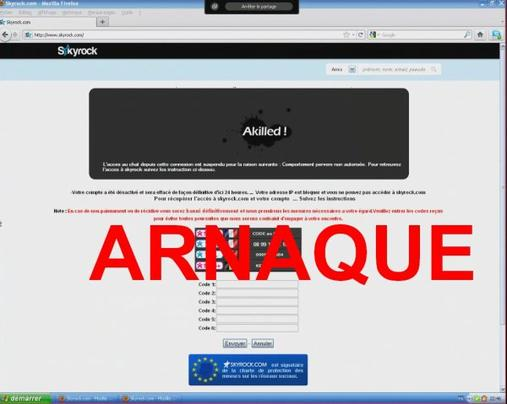 ALERTE: Spam Chat: Lien virus sur des blogs