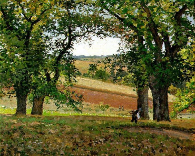 Camille Pissarro   :  les châtaigniers à Osny  (1873)