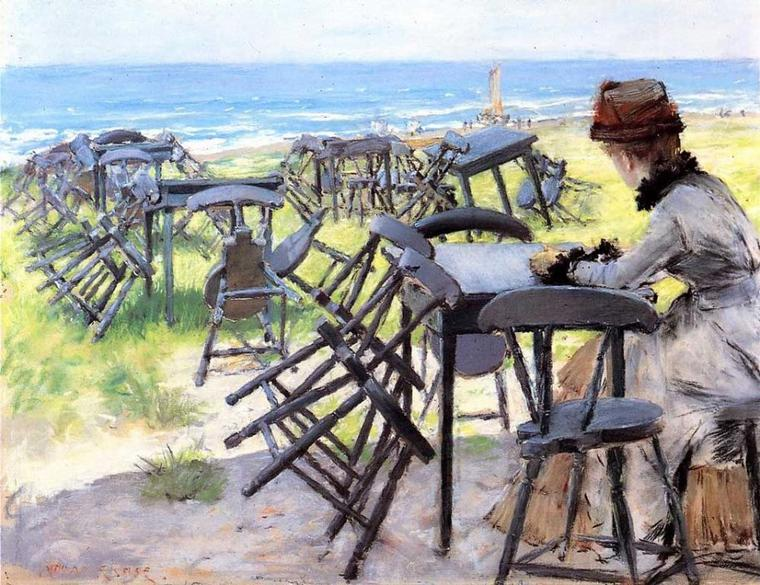 William Merritt Chase   (1849-1916)    :   fin de la saison...