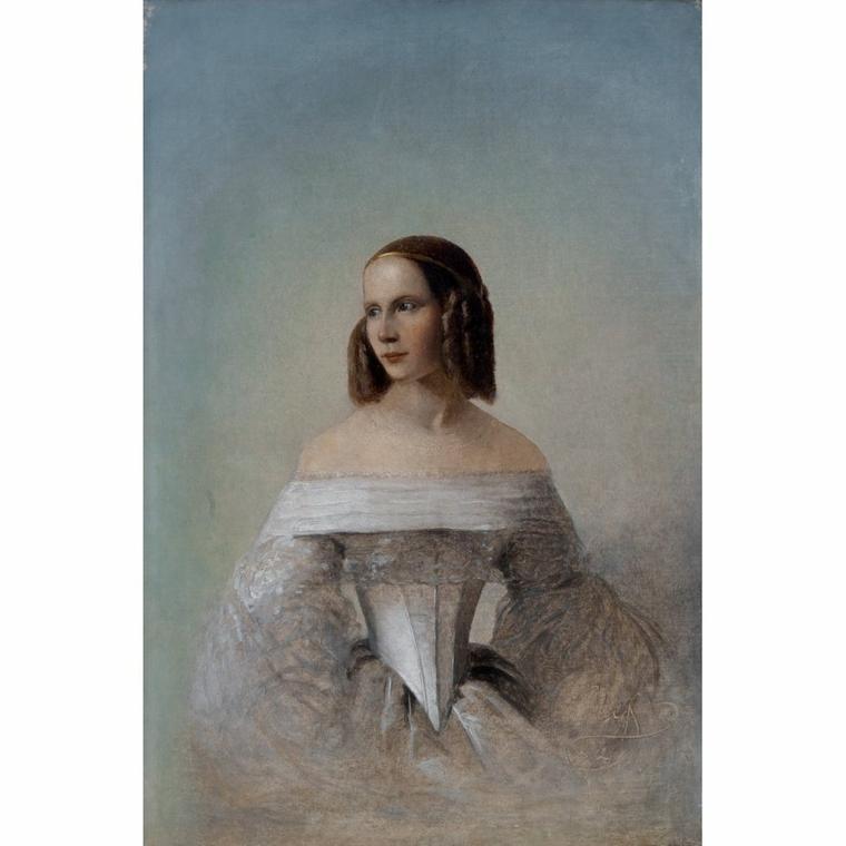 Le jeu des ressemblances...   :   Carl Timoléon  VON  NEFF  (1804-1877)    /    Mia  FARROW  , actrice américaine