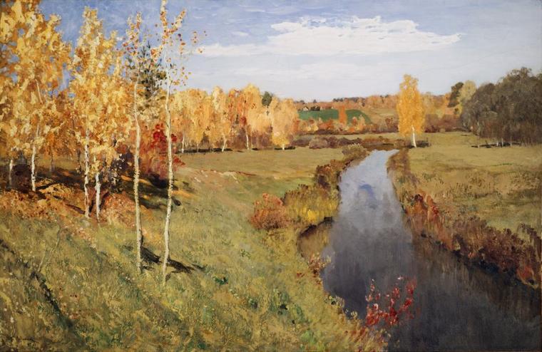 3  tableaux d' Isaac  LEVITAN  (1860-1900)