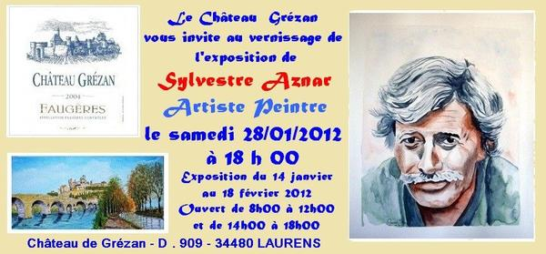 Première Exposition  2012 au Château de Grézan 34