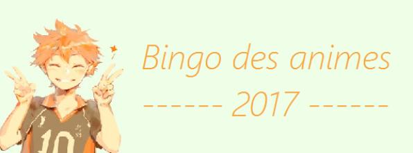 Bingo des animes 2017