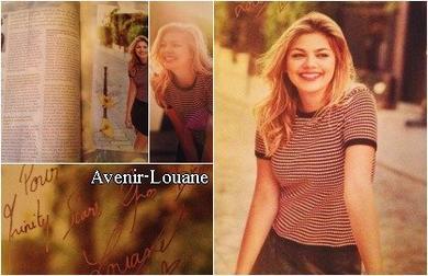 """➸ Février 2016 : Louane fait la couverture de """"Trinity Star"""""""