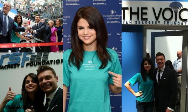 Selena était à Philadelphie pour inaugurer la fondation de Ryan Seacrest « The Voice« .