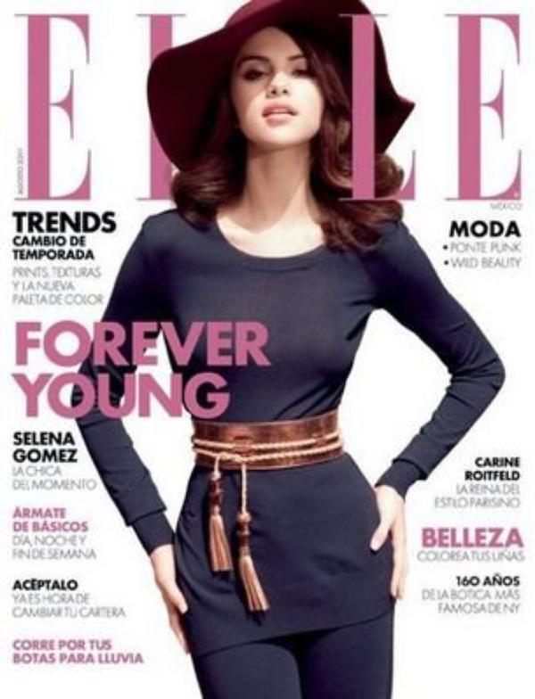 Selena fait la couverture du nouveau numéro du magazine mexicain « Elle«