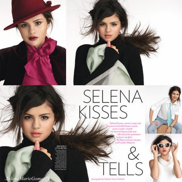 Selena est dans le nouveau numéro du magazine Glamour américain