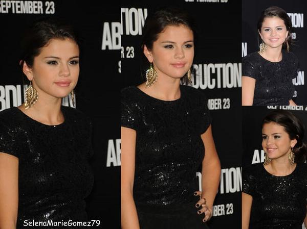 Hier, Selena était à l'avant-première du film 'Abduction' à Hollywood