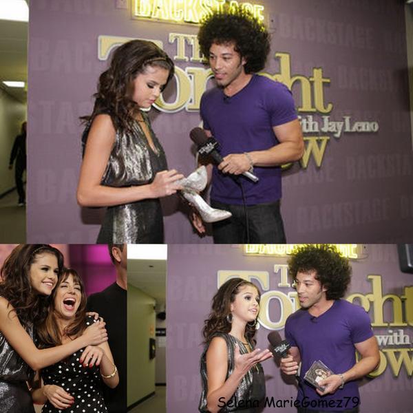 le 19 septembre Selena était dans l'émission « The Tonight Show with Jay Leno« , émission dans laquelle elle a chanté une chanson.