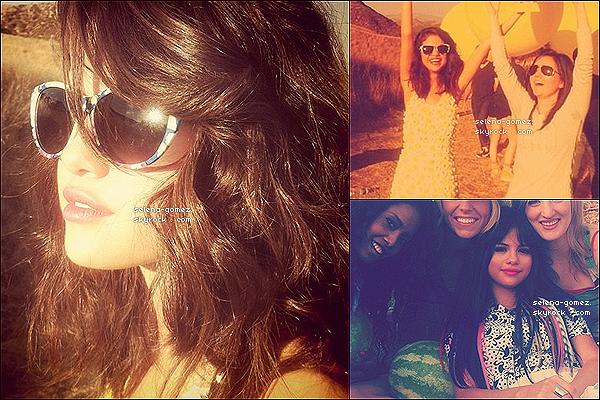 Photos de Selena sur le tournage du clip de « Hit The Lights » le 30/09, postées sur Instagram