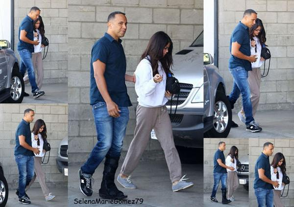 Selena a été vue ce matin à Los Angeles.