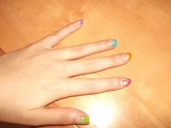 14ème Article : Bous des ongles fluo + point.