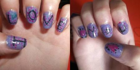 30ème Article : Nail art Amour Chaa-Loove.