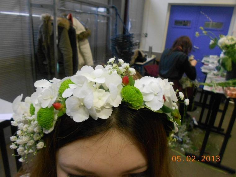 couronne de fleur en collage !!!