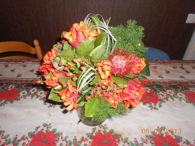 Bouquet rond en 5 minutes ;)