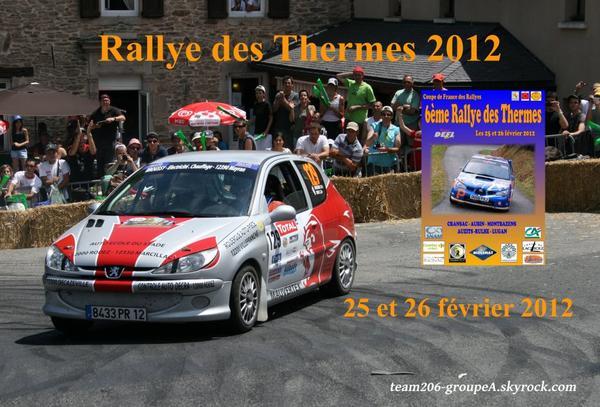 Présentation rallye des Thermes 2012