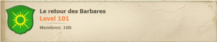 """Présentation de ma guilde: """"Le retour des Barbares"""", serveur Silouate"""