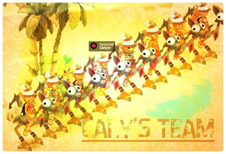Présentation de ma petite Team :