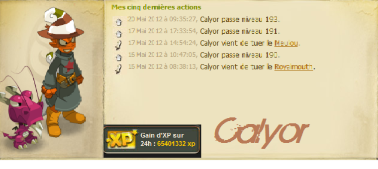 Fin des 3 Week-end X2, (une xp plus que convenable)