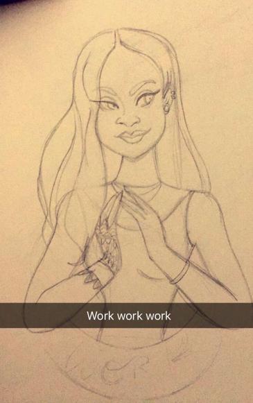 Work, work, work, work, work (croquis)