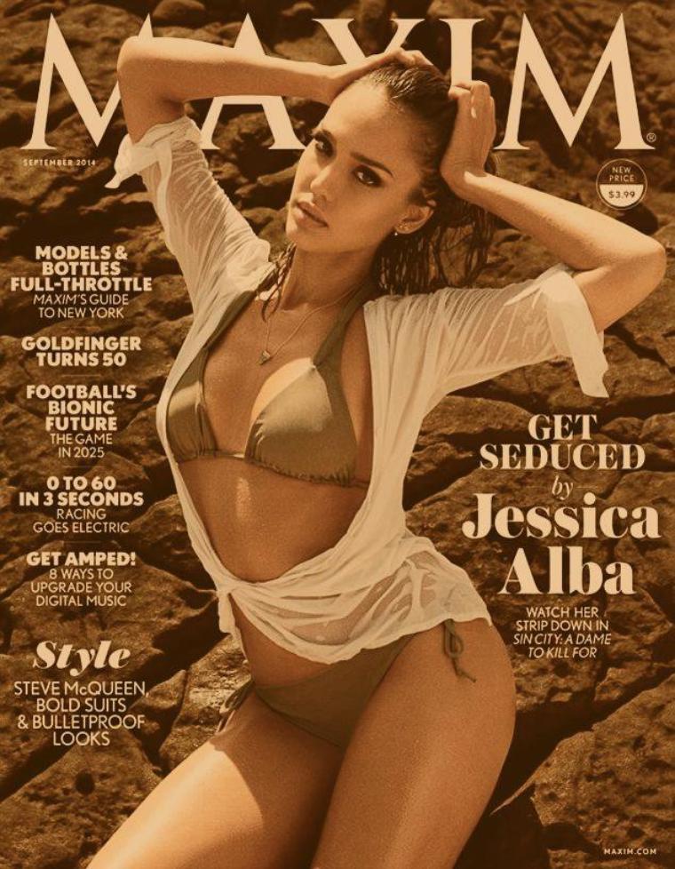 Jessica en couverture pour le magazine MAXIM de juillet 2014