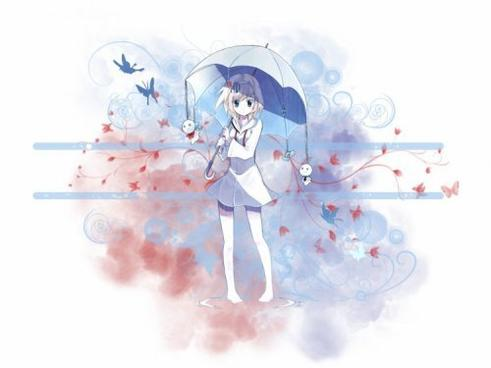 La fillette au parapluie...