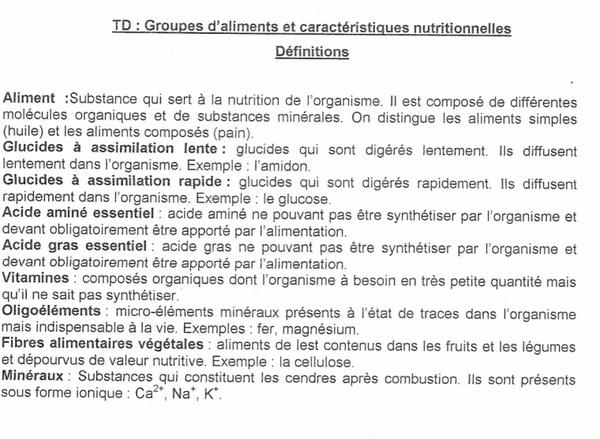 Pôle 2 : Chapitre 5 : Équilibre alimentaire et santé