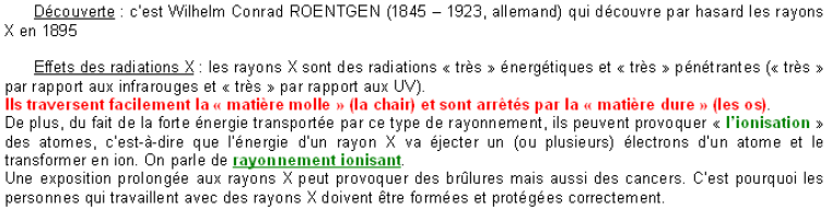 Chapitre 6. IR, UV, rayons X