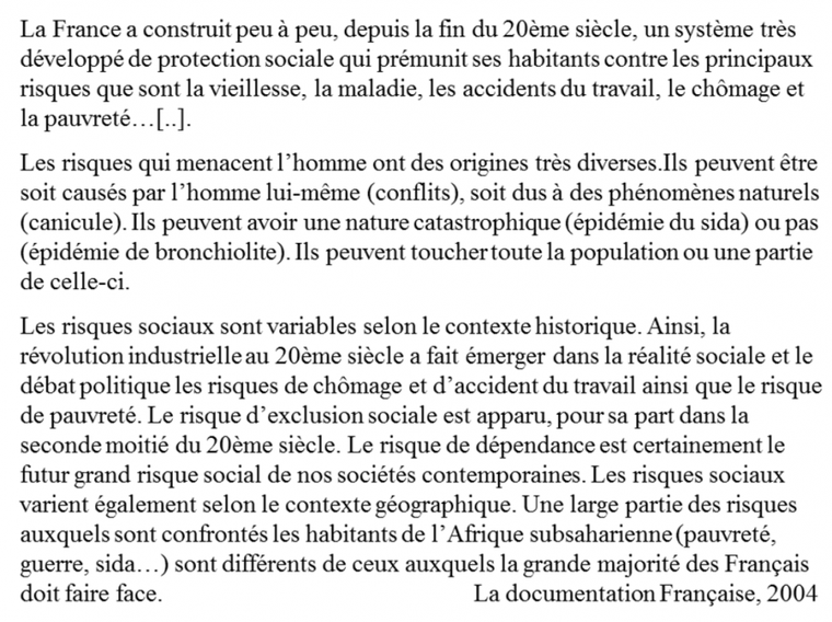 Chapitre 5.2. : Risque social