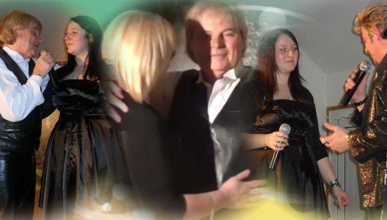 avec Gilles Puiset ( sosie de C. Jerome) , Johnny Franck et ma fille Cindy