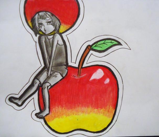 Dessin franc en Pomme ~~~~ <3 ( reborn)