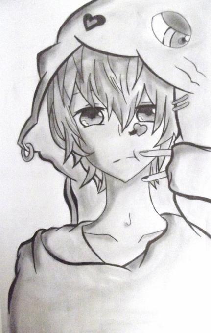 Dessin Garcon manga (Banale) :3