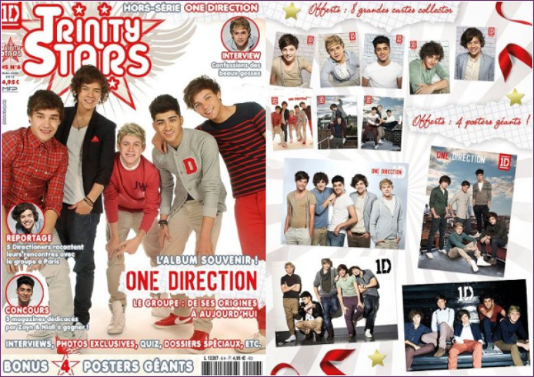 """Le magazine """"Trinity Stars - Hors Série spécial One Direction"""":"""