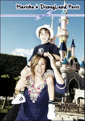 Mariska à Disney Land