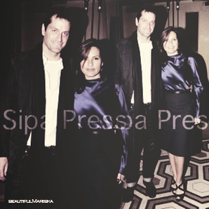 Mariska avec Peter et photo du cast