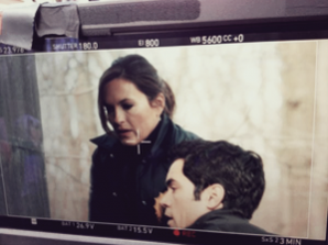 Mariska sur le tournage