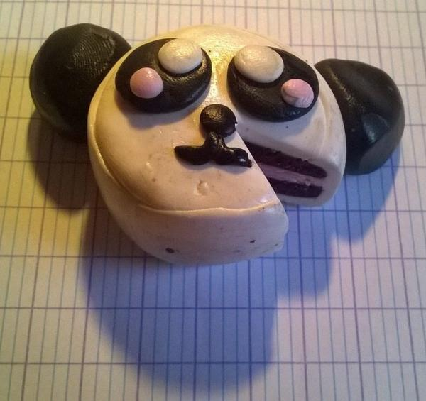 Gâteau panda et sa part