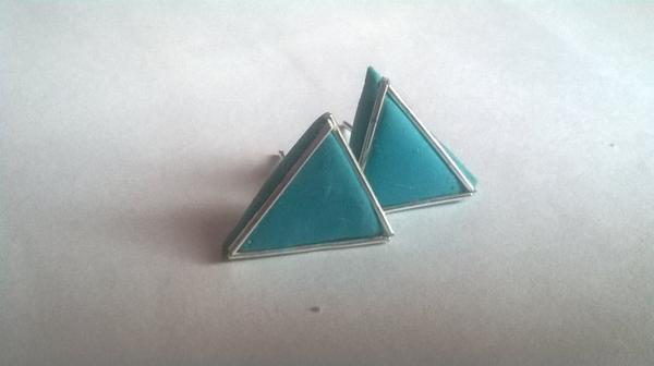Boucles d'oreilles Triangles bleus