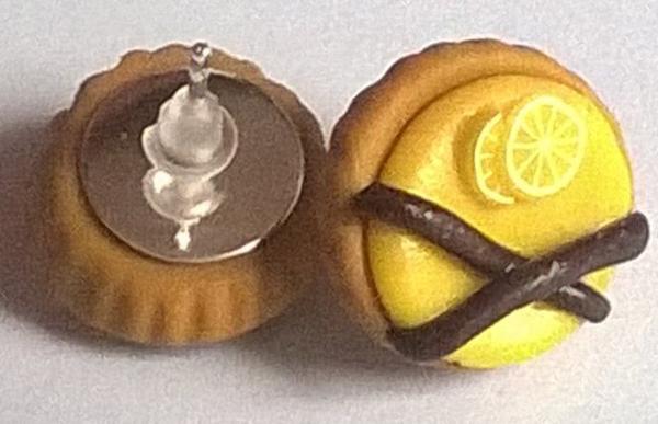 Boucles d'oreilles tartes au citron