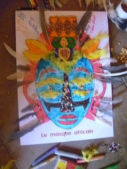 Mon masque africain des Ecoles du Desert