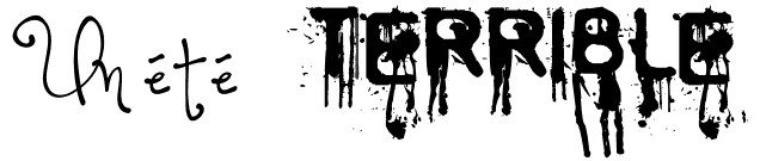 Texte : Un été terrible