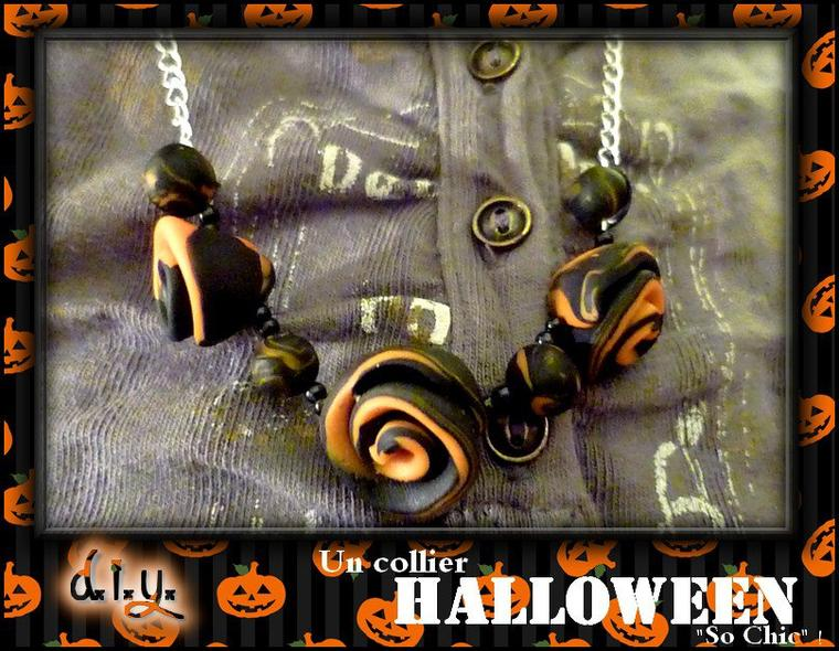 DIY Collier Halloween en Fimo