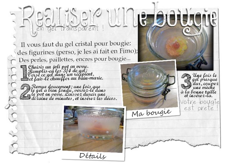 DIY Bougie en gel transparent
