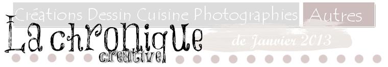 Chronique créative, janviers 2013