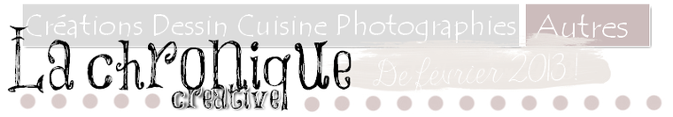 Chronique créative, février 2013