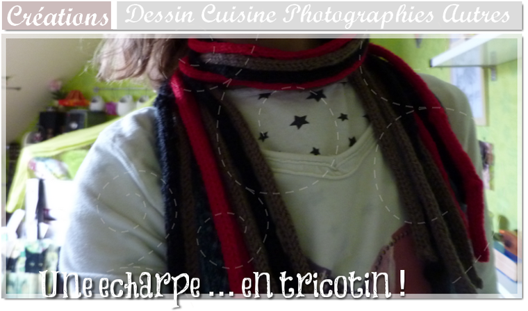 DIY Echarpe en tricotin