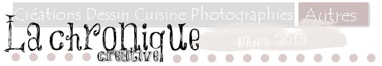 Chronique créative, mars 2013